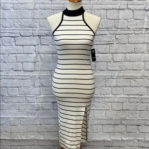 Guess Black White Stripe Sexy Sweater Dress S